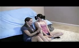 Teens Chloe and Zoe Find Moms Dildo