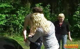 Humiliated by two blonde teens