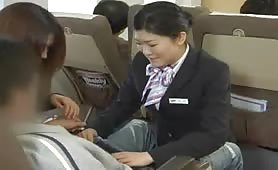 Handjob Airlines - He has a leg cramp