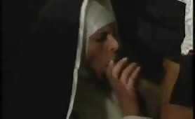 Black priest shows nun cock