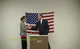 Sarah Pullen pulls cock during speech