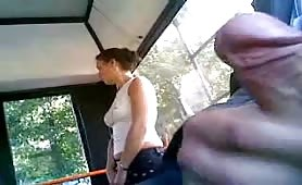 Horny Guy flahsing your cock in a brazilian public bus