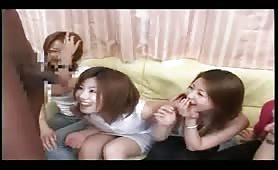 Japanese girls love big black cock