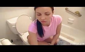 Krystal Banks Handjob on Toilet