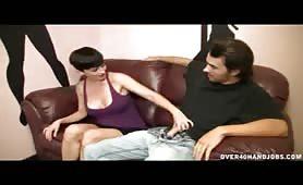 MILF Ivy Reins Stripper Gives Handjob