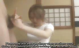 Bizarre bathhouse CFNM Japanese penis washing subtitled