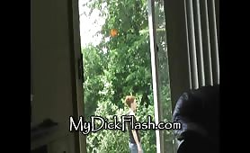 Redhead neighbor flashed