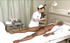 Asian nurses make him cum 3 times