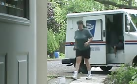 Naked for the mail lady