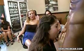 Watch her suck a strangers cock