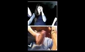 Webcam chat reactions