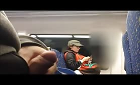 Train flashing cfnm surprise
