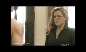 CFNM Stunned office girl imagines boss nude