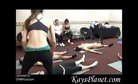 Kay's cfnm yoga class
