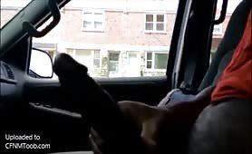 Dickflash in the car