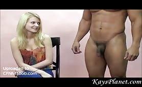 Irene judges his cock