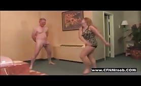 Extreme cfnm ball kicking