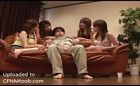4 Asian girls vs 1 Asian boy - Part 1