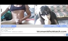 Naked guy turns her on