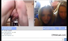 cfnmcam show for two blonde teens