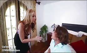 Caught jeking to maid by Stepmom