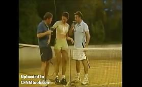 Ballgirl handles both of their cocks