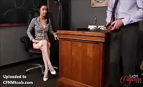 She gets him to jerk off for her