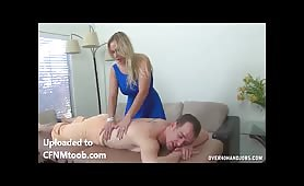 MILF cfnm handjob massage