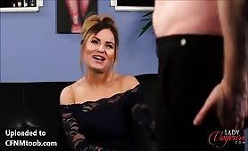 Tina cfnm interview at Lady Voyeurs
