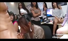 Office sluts and a big swinging cock