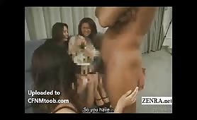 Naked for two shy Asian girls (subtitled)