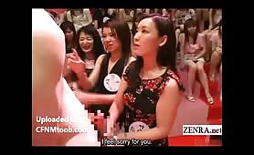 Asian female crowd loves big dicks (subtitled)