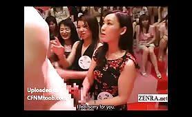Asian female crowd loves big dicks (subtitled)