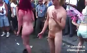Naked cfnm dancing in the streets
