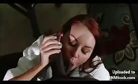Janet Mason sucks mandingo cock