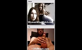Girls watch guy cum on cfnmcam