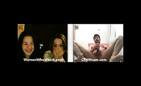 Girls reaction to cumshot on webcam