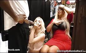 Piper and Mom share a giant black cock