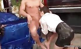 Femdom cfnm ladies jerking cock