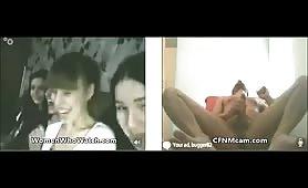 4 girls cock shocked on webcam
