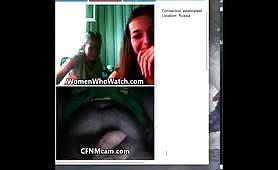 Russian girls SPH on webcam