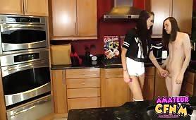 Naked kitchen chores