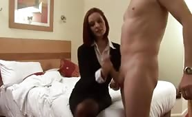 Jerked off by hotwife
