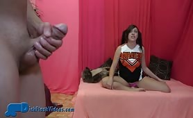 Flashing and jerking for cheerleader