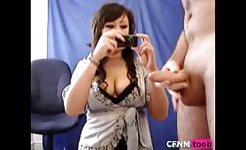 Real amateur enjoying CFNM fun