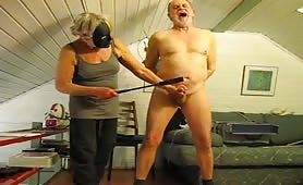 Mature CFNM cock ball torture