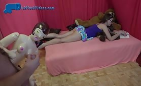 Teen Schoolgirl Upskirt and CFNM Dick-Flashing