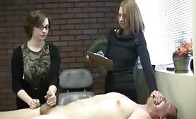 Nerdy girls perform cumshot experiment