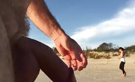 Taking his cock for a beach walk compilation