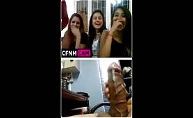 Shooting cum for girls on webcam